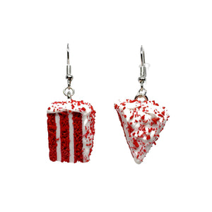 Red Velvet Cake Dangle Earrings