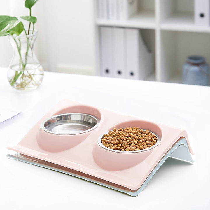 Stainless Steel Double Pet Bowls - Christokingg
