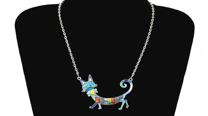 Enamel Kitten Cat Choker Necklace - Christokingg