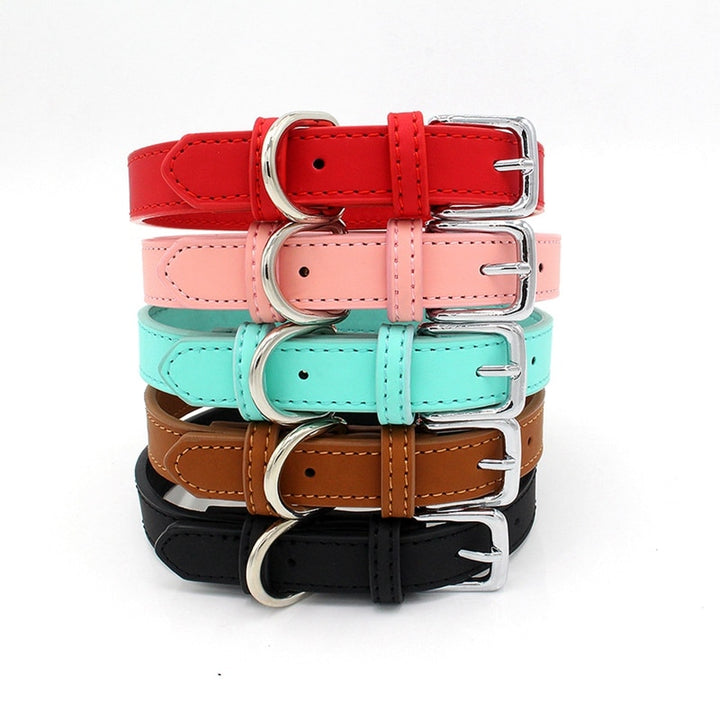 Adjustable Leather Dog Collars - Christokingg