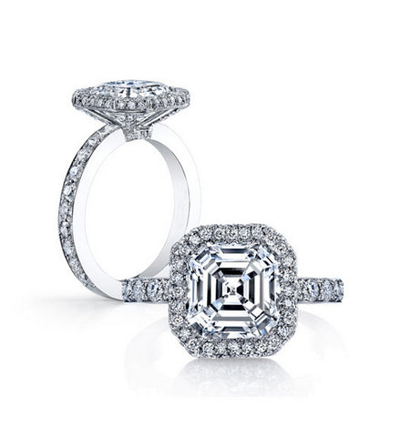 2.5ct princess cut diamond engagement ring - MOWTE