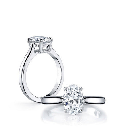2CT oval cut diamond engagement ring