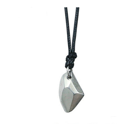Men's unique sterling silver Lucky silverstone pendant & necklace