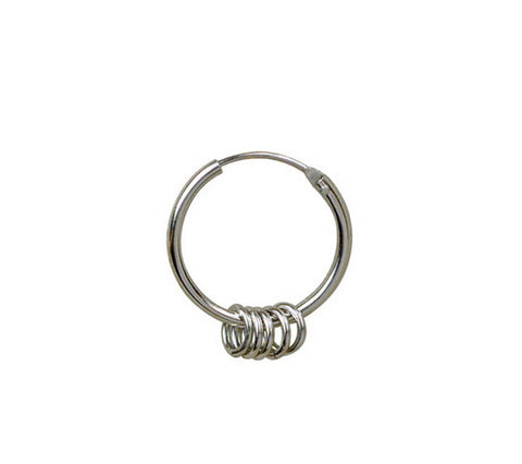 Men's fashion rings silver stud - MOWTE