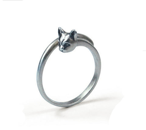 Men's fashion cat sterling silver ring - MOWTE
