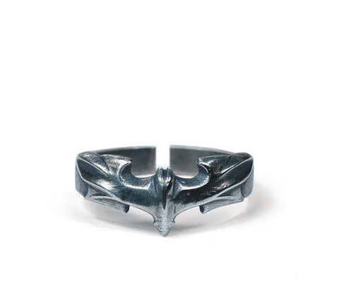 Men's fashion batman sterling silver ring - MOWTE