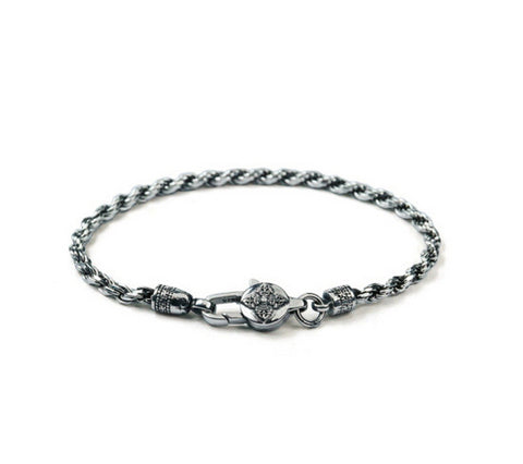 Men's fashion sterling silver bracelet