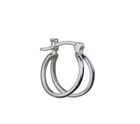 Men's fashion dual ring ear stud