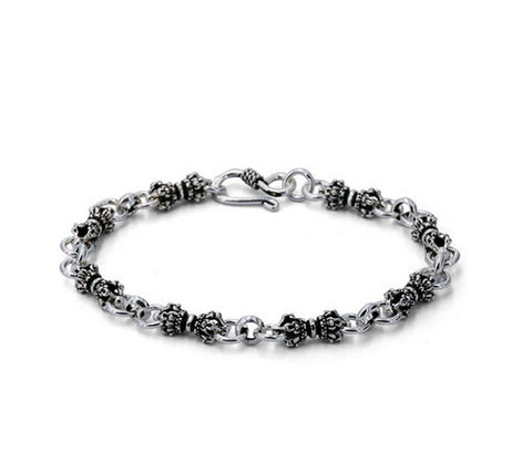 Men's fashion vajra sterling silver bracelet