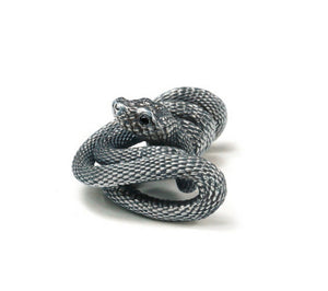 Men's fashion sterling silver snake pendant necklace