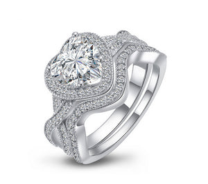 3ct heart cut diamond engagement ring
