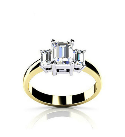 Fashion princess cut diamond promise ring