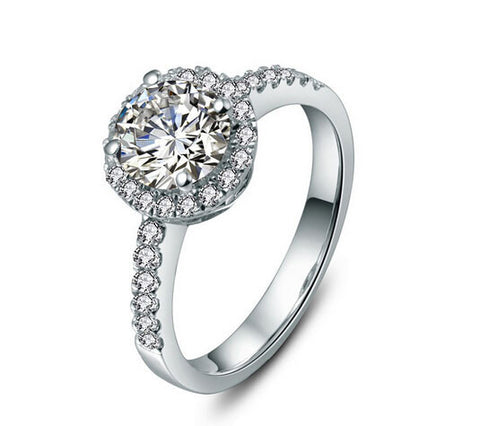 1CT only love diamond silver ring - MOWTE