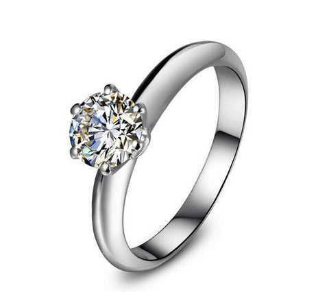 Timeless 1-3CT SONA DIAMOND engagement ring - MOWTE