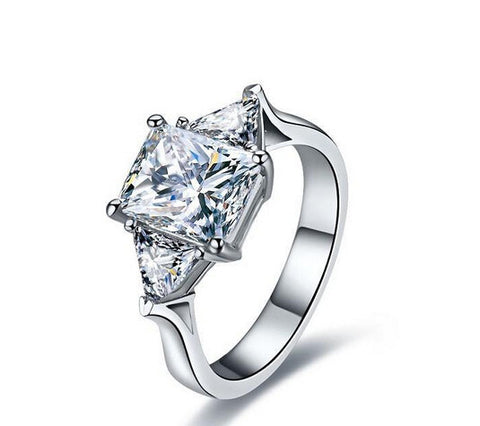 2ct unique diamond engagement ring - MOWTE