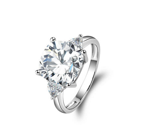 3ct cushion cut diamond engagement ring - MOWTE
