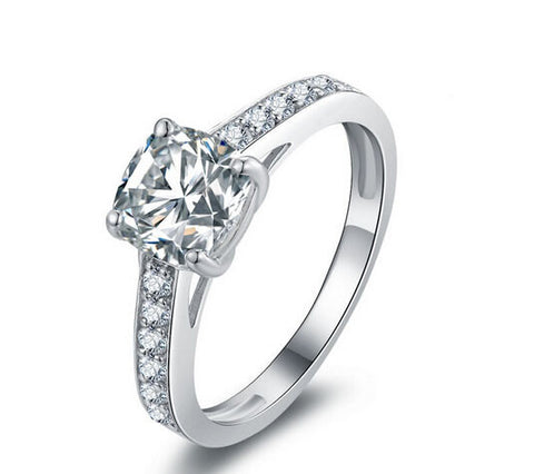 New fashion cushion cut diamond bridal ring