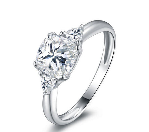 New fashion cushion cut diamond wedding ring