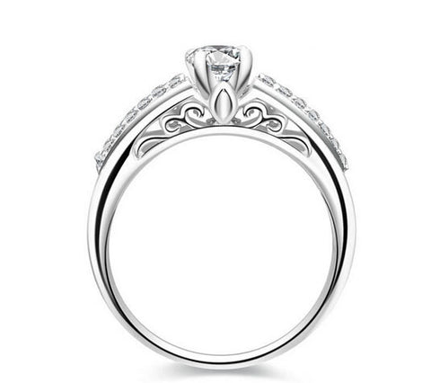New fashion round cut diamond engagement ring - MOWTE