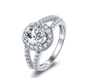 New style oval cut diamond engagement ring - MOWTE