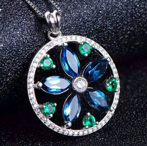 Fashion topaz sterling silver pendant