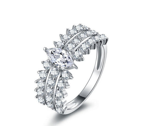 Marquise Cut diamond engagement ring - MOWTE