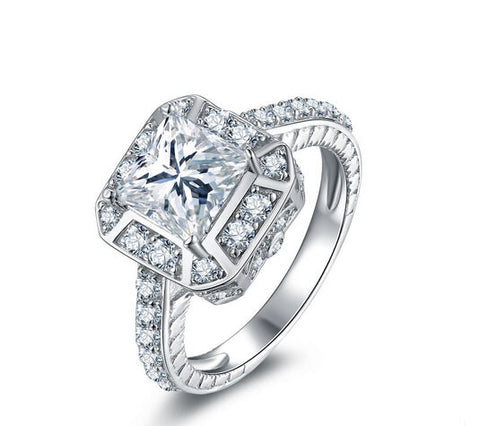 Cushion cut fashion diamond wedding ring