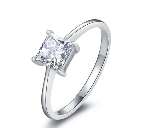 1ct princess cut diamond engagement ring - MOWTE