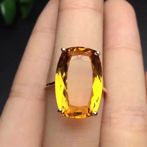 Citrine 925 stetling silver ring