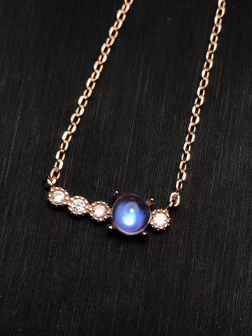 Moonstone sterling silver necklace - MOWTE