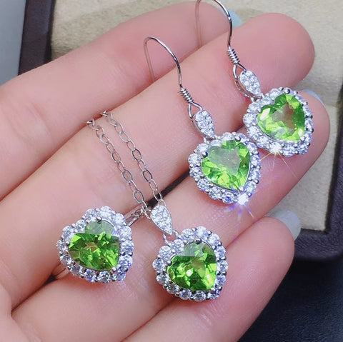 Peridot sterling silver sets