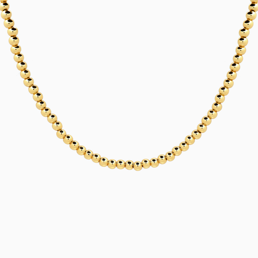 14k gold beaded necklace
