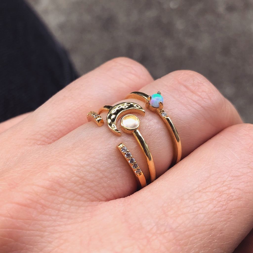 Dainty Stacking Rings | Gold