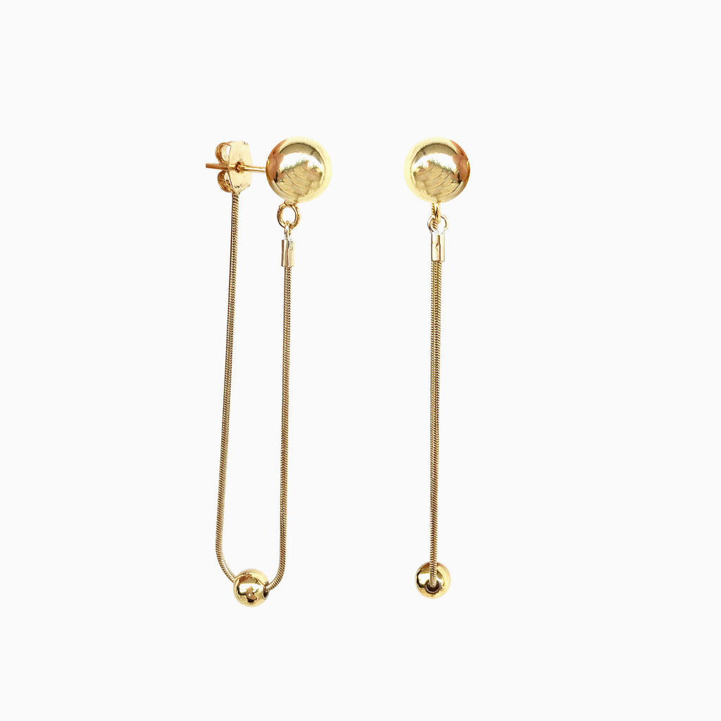 ball stud drop earrings
