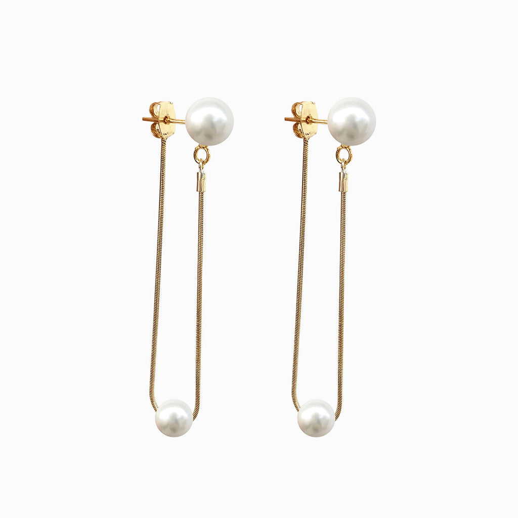 Pearl Ball Drop Earrings | Devon