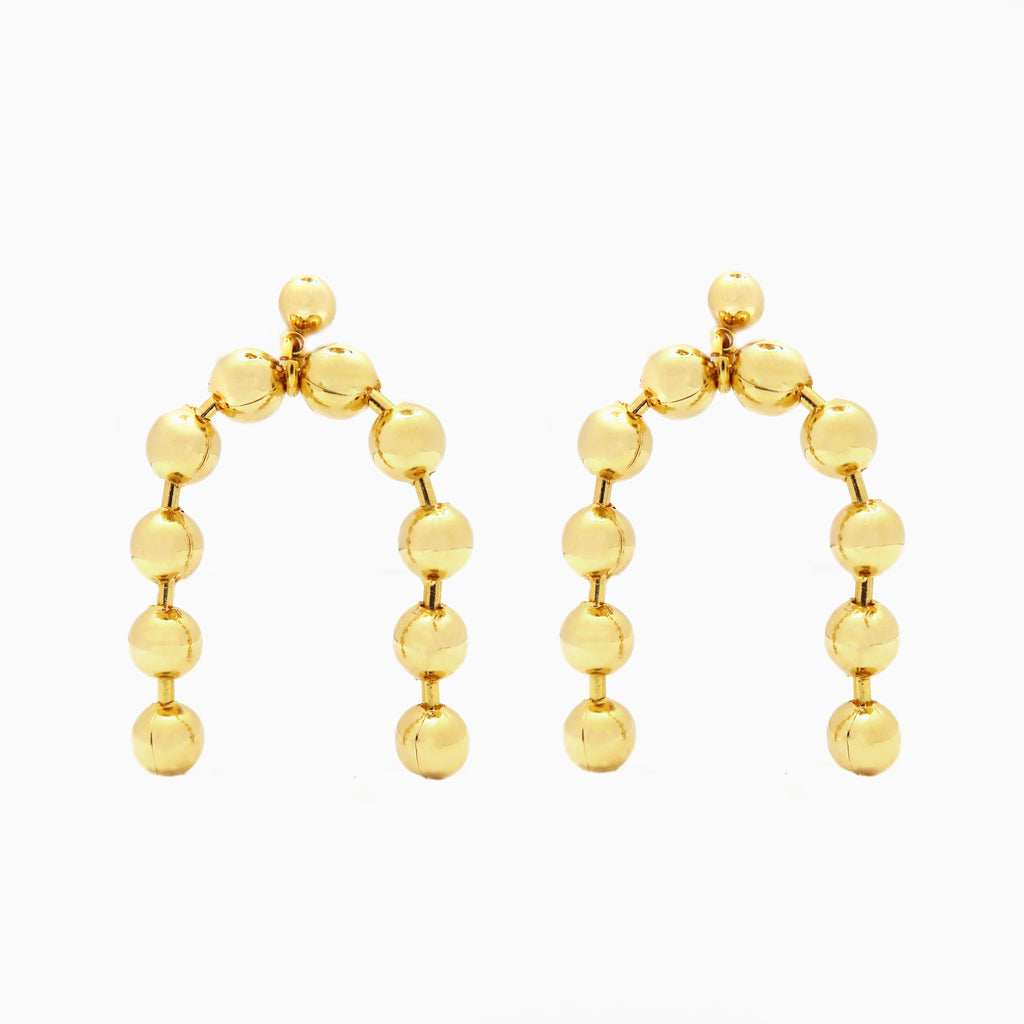 Ball Chain Statement Earrings