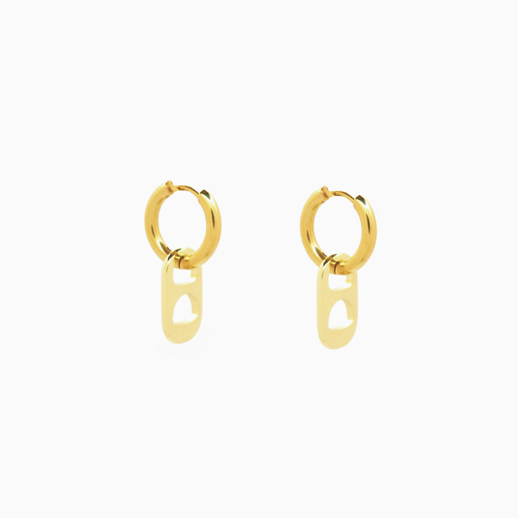 soda tab earrings gold