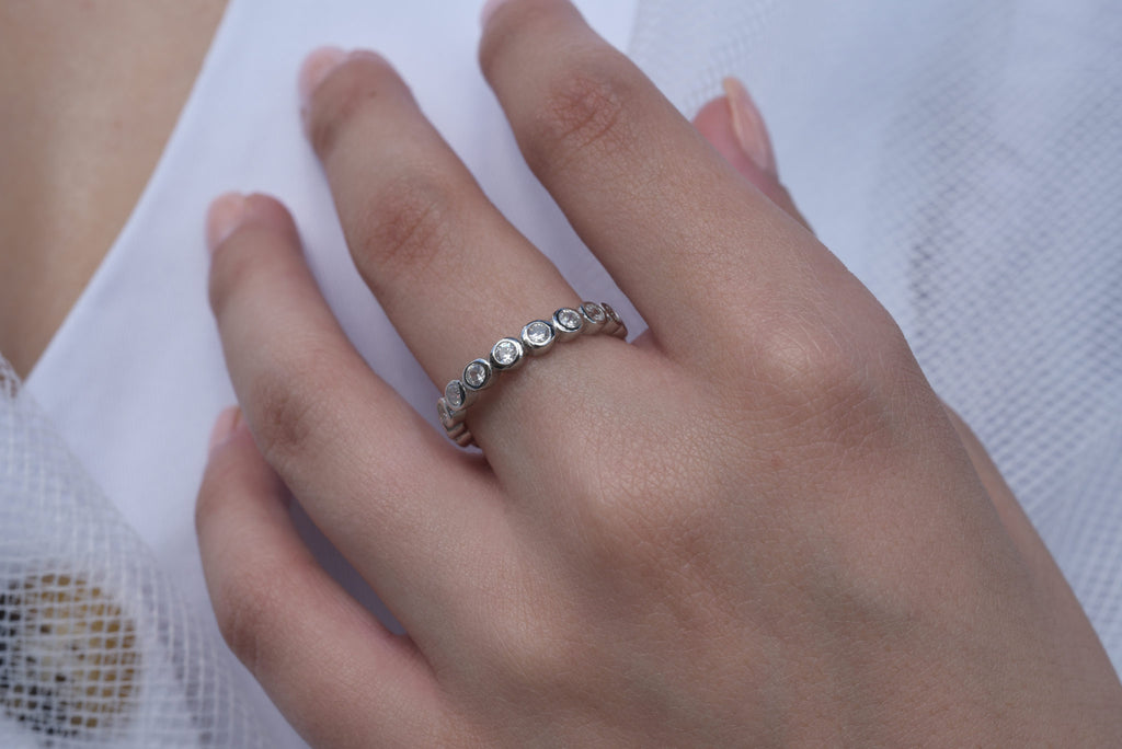 STACKABLE SILVER RING | CZ