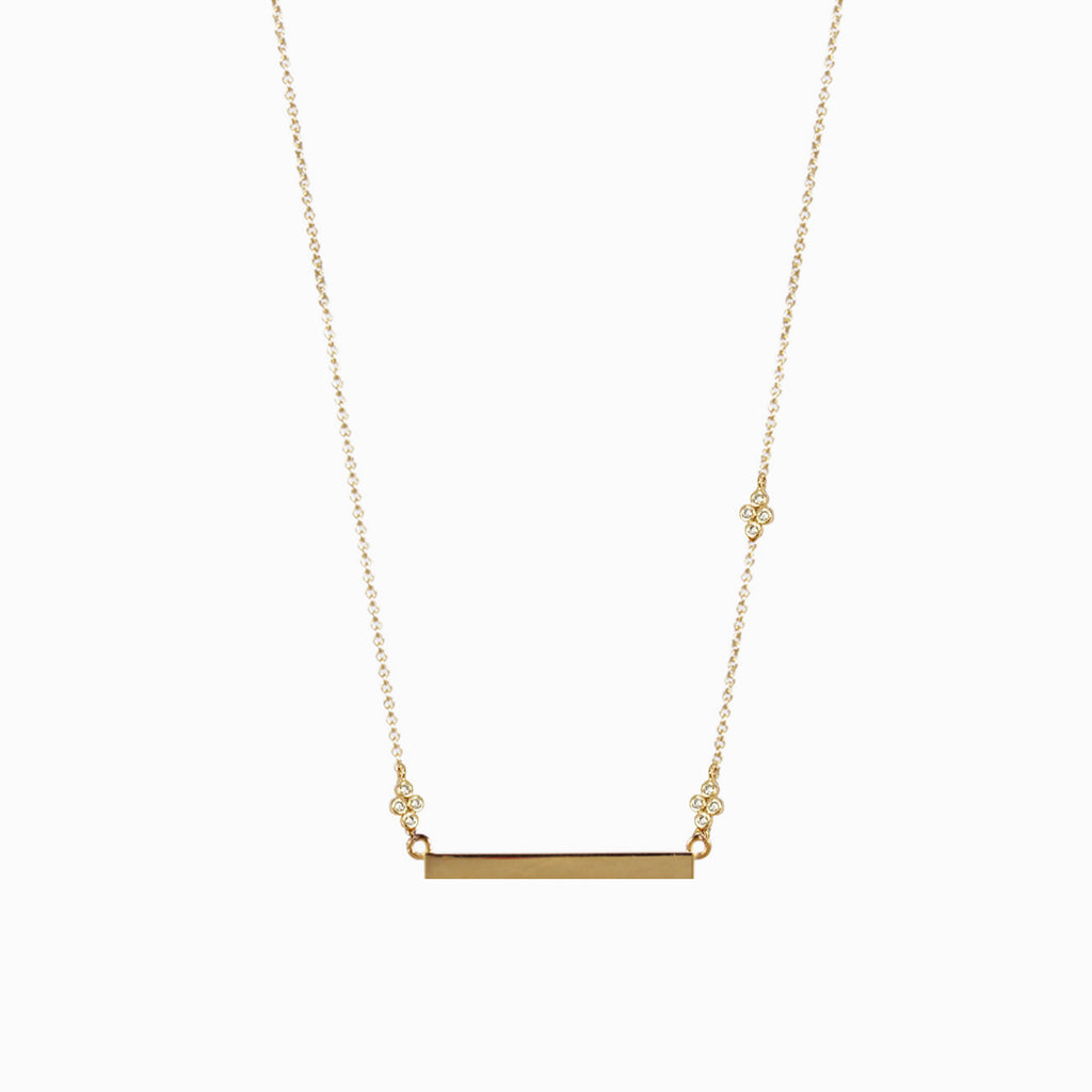 Dainty Bar Necklace | Gold