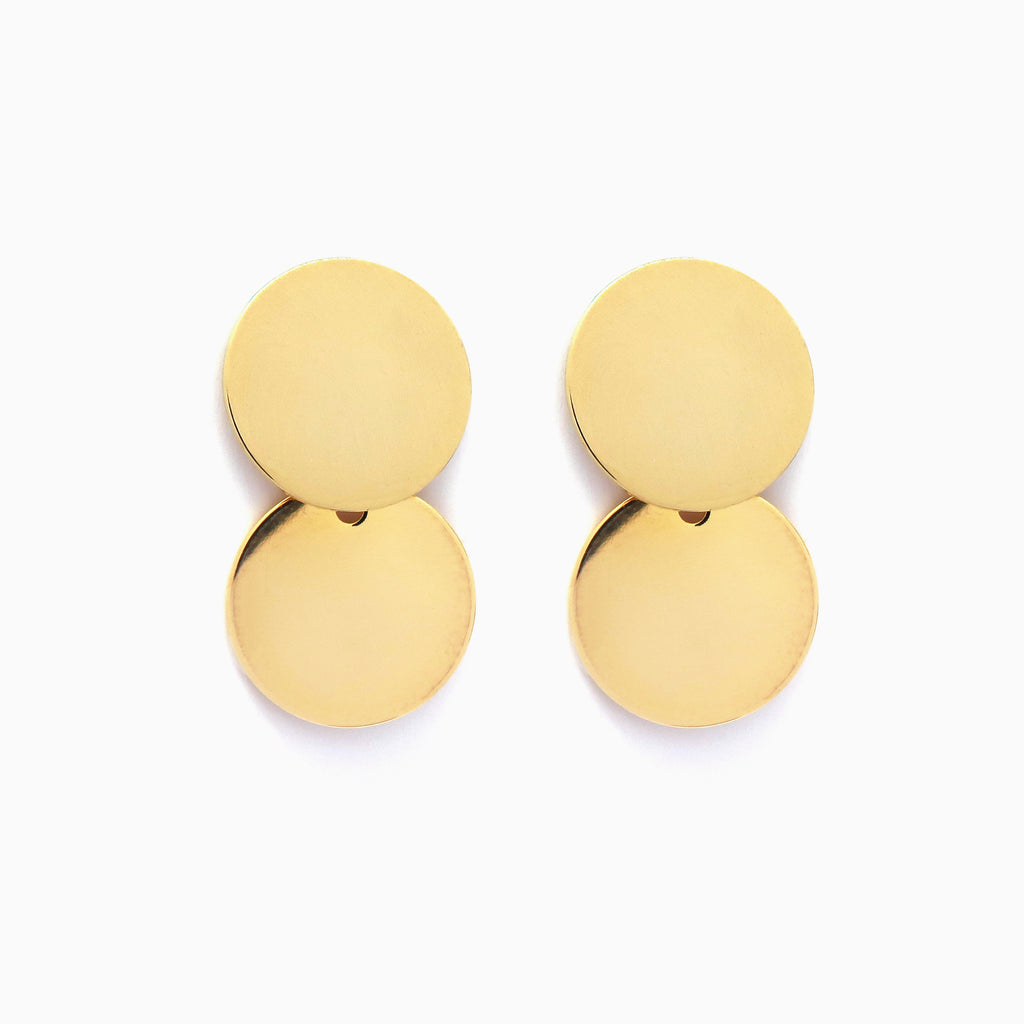 disc earrings gold