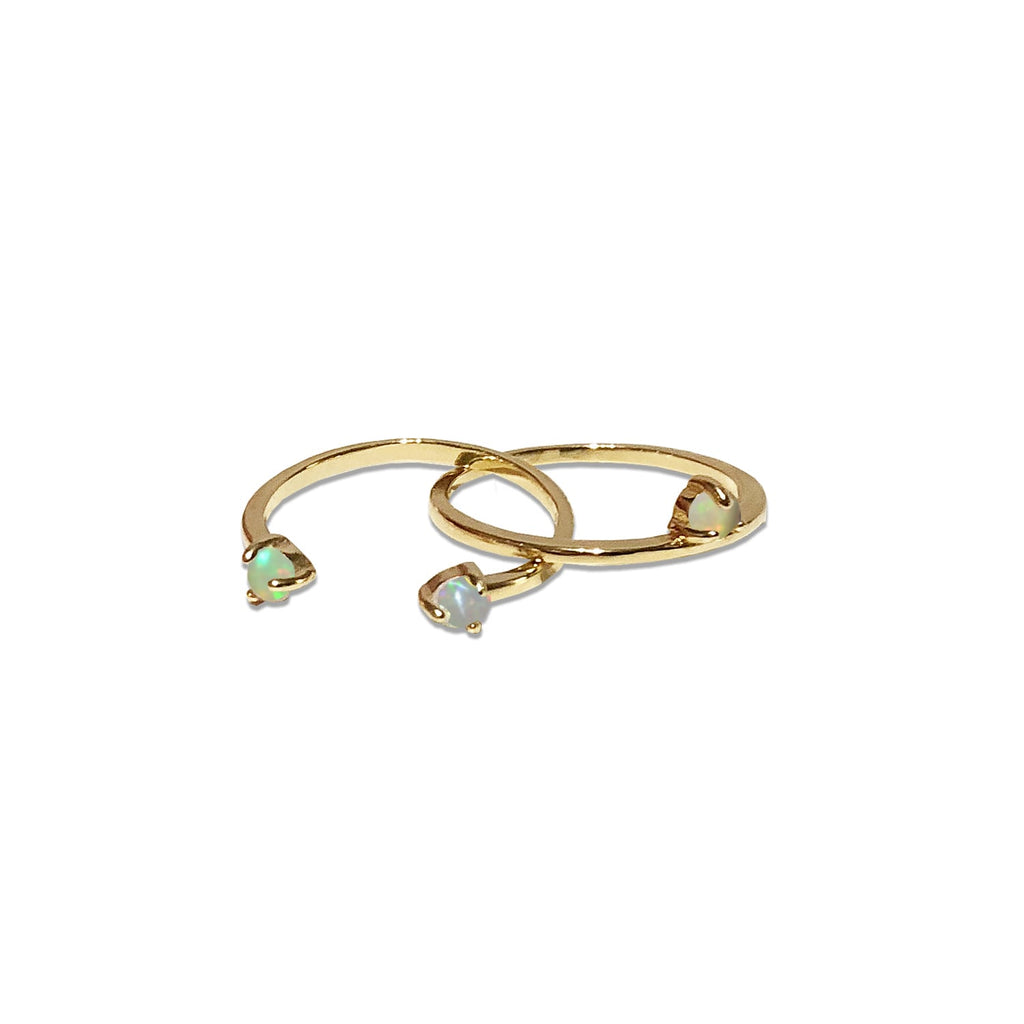 dainty stacking ring set