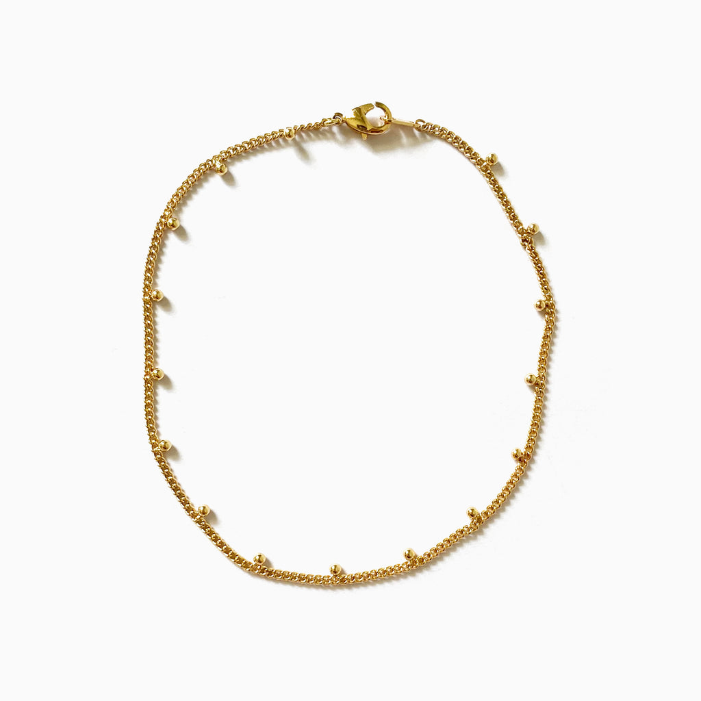 thin chain anklet