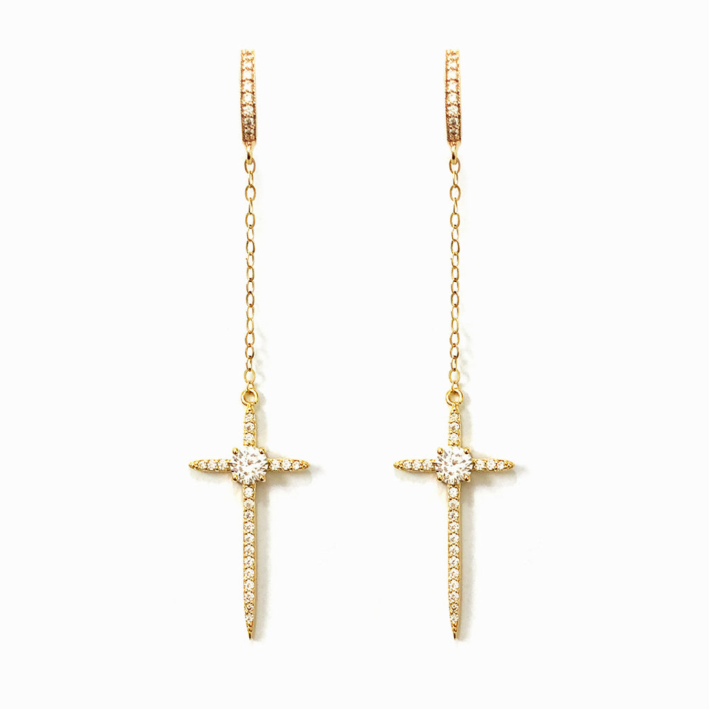 Long Cross Earrings | London