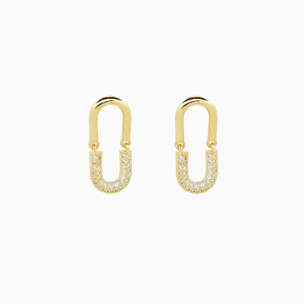 gold dandle earrings