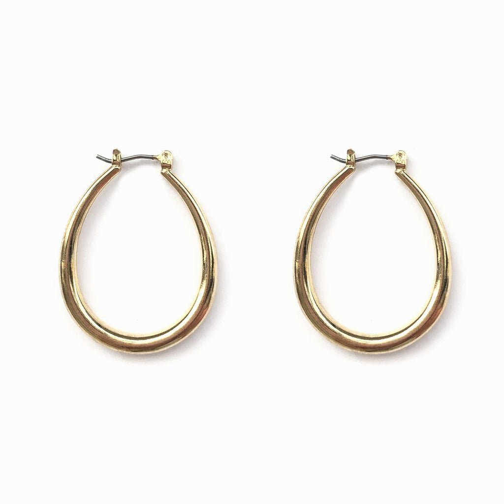 Simple Hoop Earrings | Gold