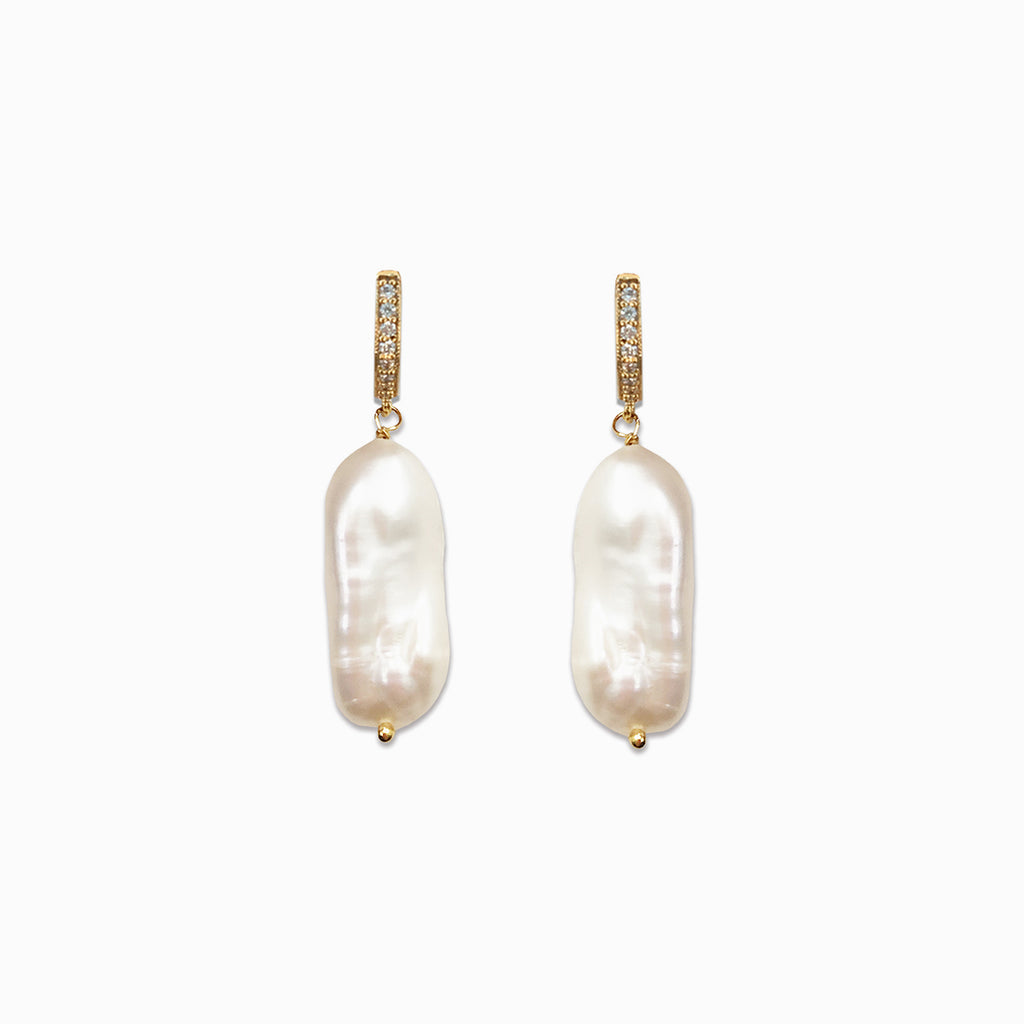 Gold Pearl Earrings | Lotte