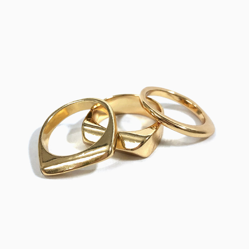 gold stacking ring set