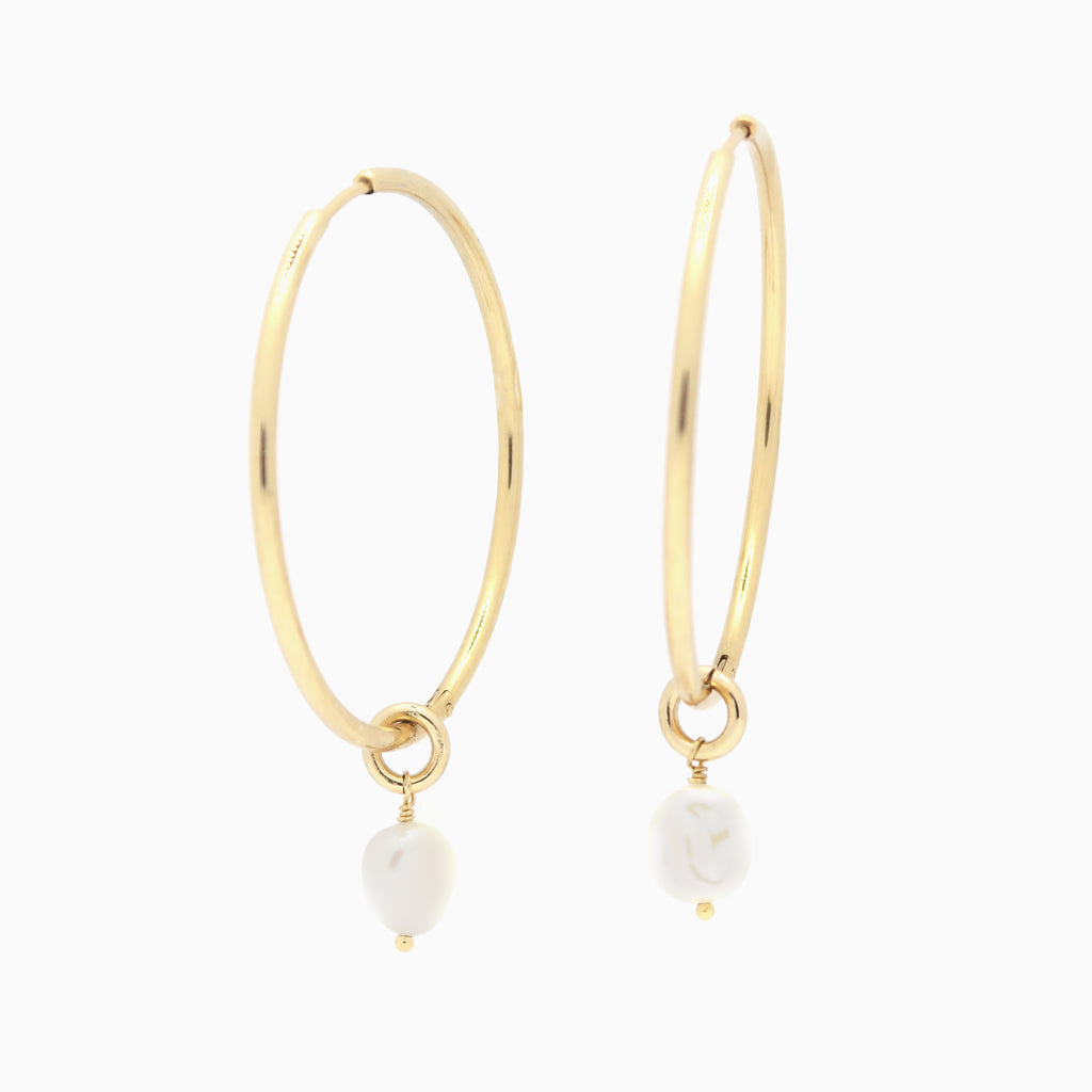 Large Hoop Earrings | Gold