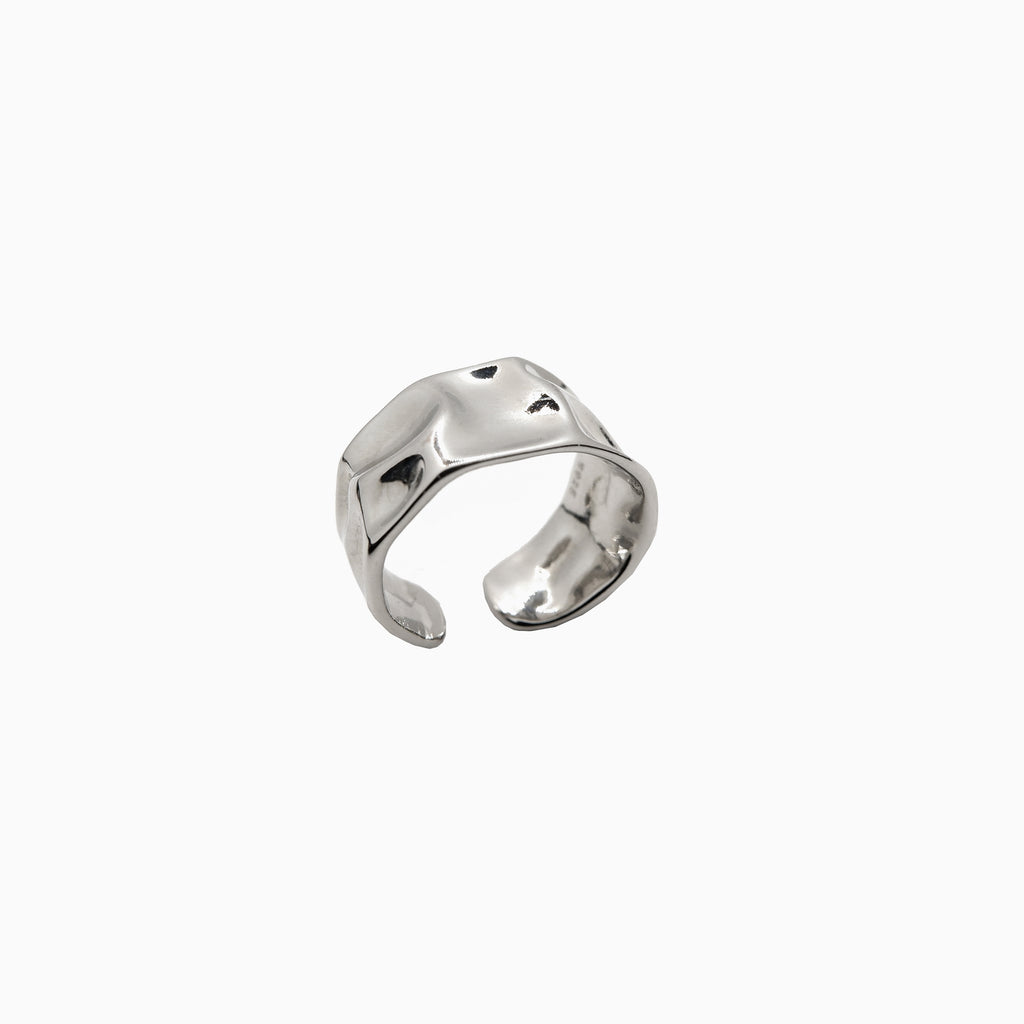 wide ring band silver
