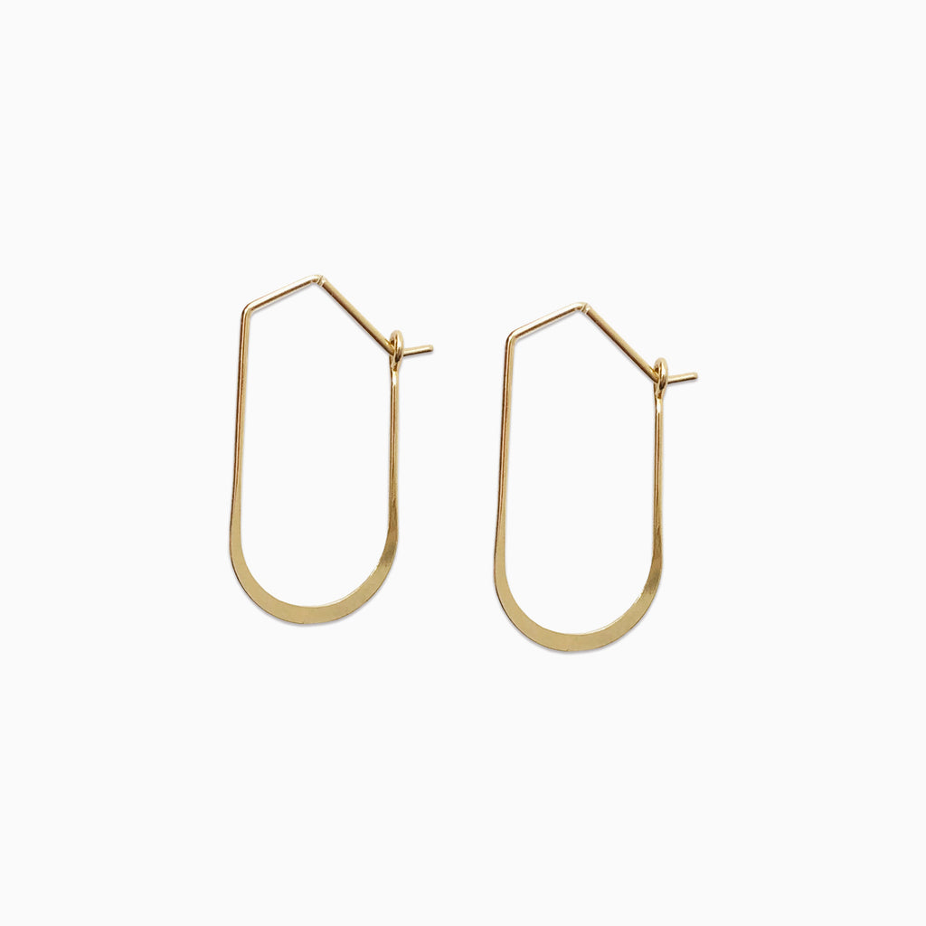 minimalist wire hoops